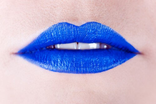close up of blue lips for mouth cancer action month