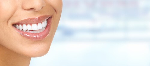smiling face with whitened teeth