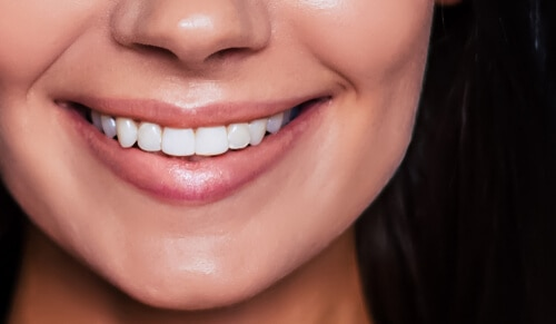 healthy looking white smile